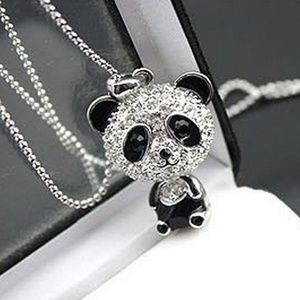 Jewelry - Rhinestone Panda Sweater Chain